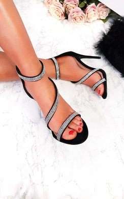 View the Emily Diamante Strap Barely There Heels online at iKrush