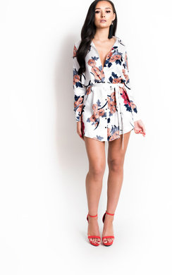 View the Freja Long-lined Floral Shirt Dress online at iKrush
