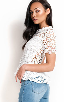 View the Helana Crochet Peplum Top online at iKrush