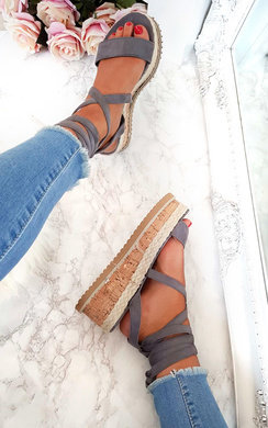 View the Hollie Lace Up Wedges  online at iKrush