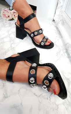 View the Imo Studded Double Strap Sandals online at iKrush
