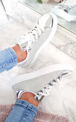 View the Jojo Glitter Shine Trainers  online at iKrush