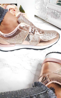 View the Karlie Metallic Sequin Trainers online at iKrush