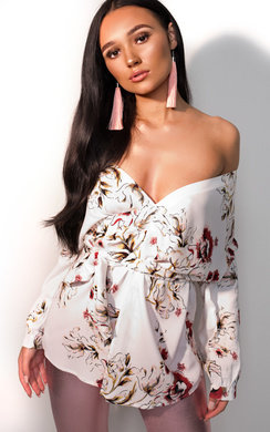 View the Kaydence Floral Kimono Wrap Top online at iKrush
