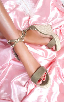 View the Klaire Studded Embellished Wedges online at iKrush