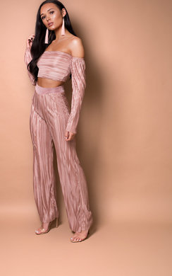 View the Kourtney Slinky Ribbed Bardot Co-ord online at iKrush