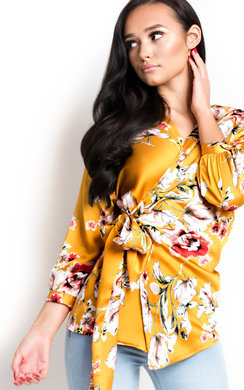 View the Lilly Floral Wrap Blouse  online at iKrush