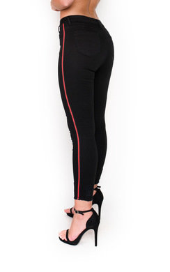 View the Lottie Striped Mid Rise Skinny Jeans online at iKrush