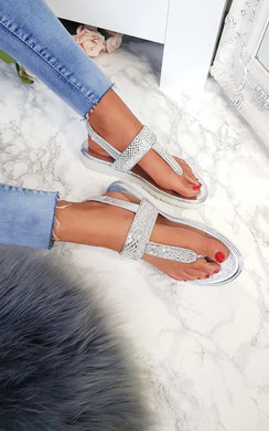 View the Maddie Embellished Sandals online at iKrush