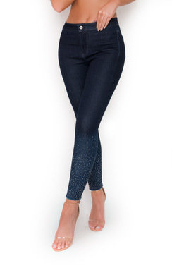 View the Maisie Diamante High Waisted Skinny Jeans online at iKrush