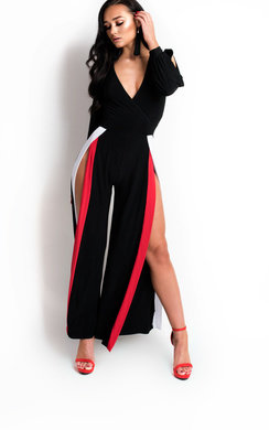 View the Marlin Slinky Split Striped Jumpsuit  online at iKrush