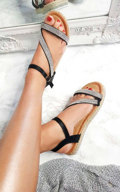 View the Matilda Diamante Flatform Sandals online at iKrush