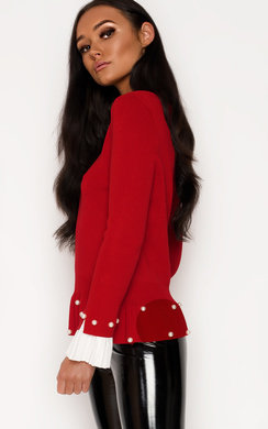 View the Nelly Pleated Sleeve Beaded Jumper online at iKrush