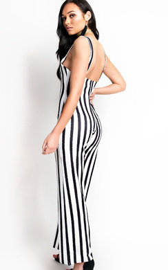 View the Nora Striped Wide Leg Jumpsuit online at iKrush