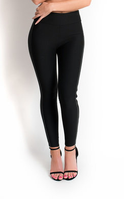 View the Petra High Waisted Striped Leggings  online at iKrush