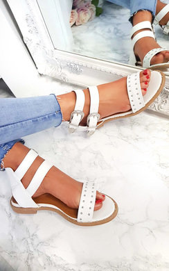 View the Renesme Double Strap Studded Sandals  online at iKrush
