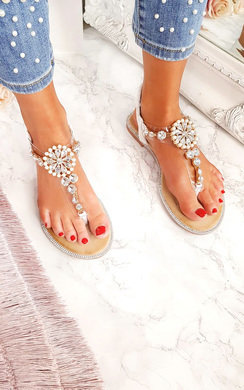View the Sarris Embellished T Bar Sandals  online at iKrush