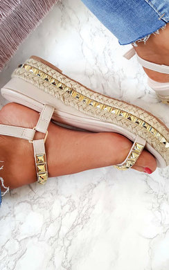 View the Seritta Studded Strap Wedges online at iKrush