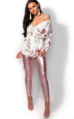 View the Skylar Metallic Shine Leggings online at iKrush