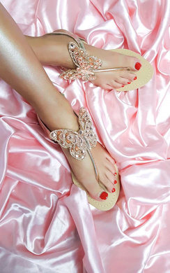 View the Sylvie Butterfly Embellished Sandals online at iKrush