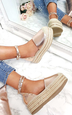 View the Tilly Studded Espadrille Wedges online at iKrush