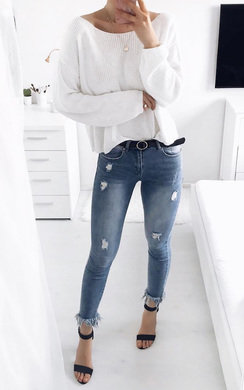View the Trixie Frayed Ankle Graze Jeans online at iKrush