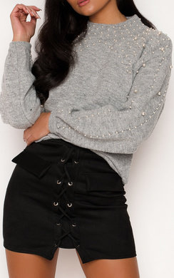 View the Verdania Beaded Embellished Knitted Jumper online at iKrush