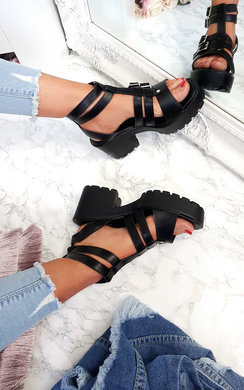 View the Viola Chunky Double Buckle Sandals online at iKrush