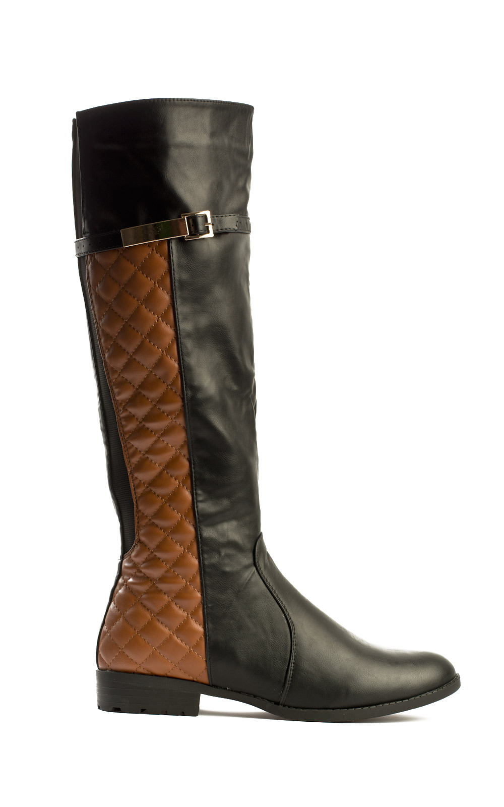 7f843570149 ikrush womens bran quilted knee high boots