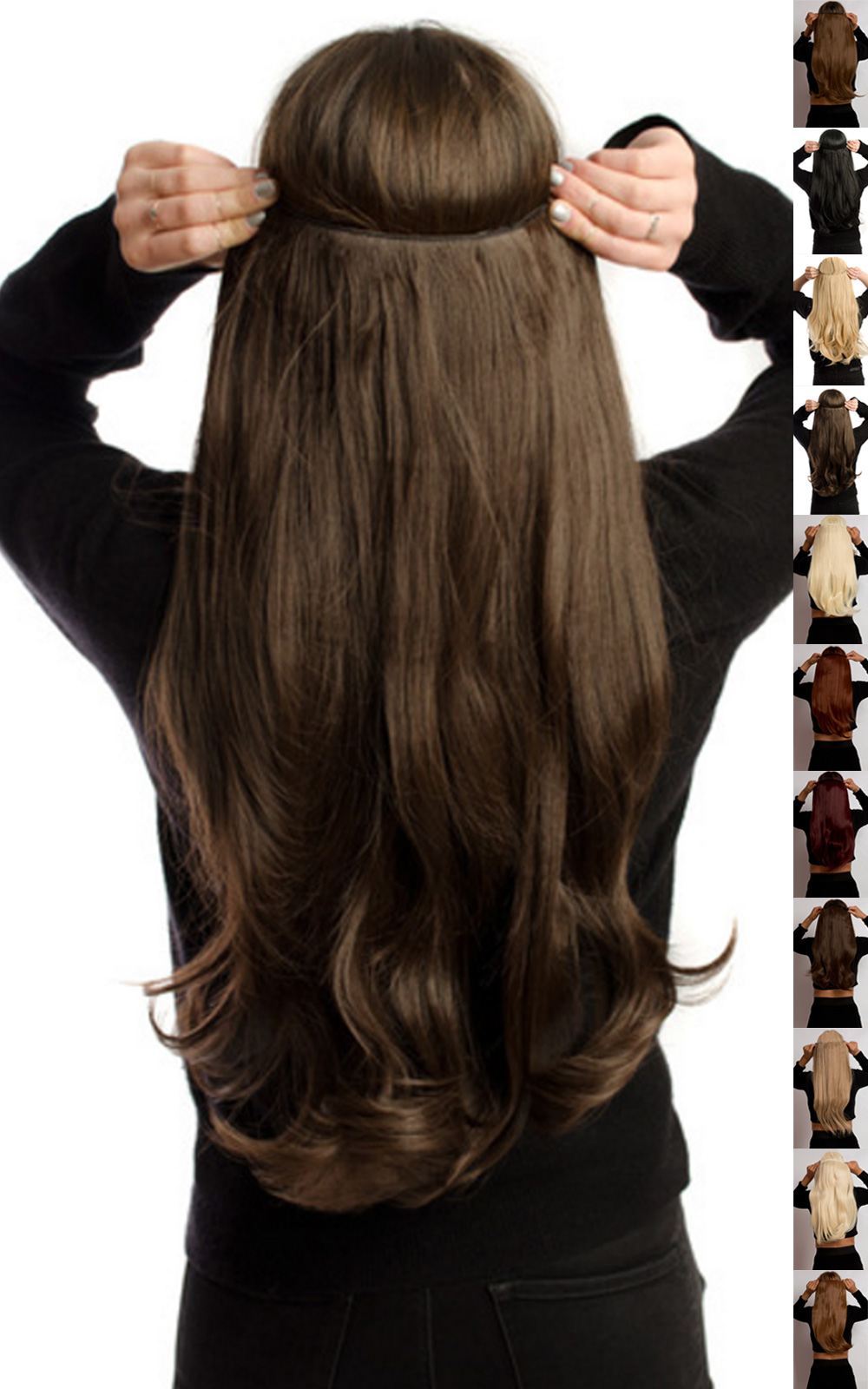 IKRUSH-Women-039-s-Intense-Volume-Clip-In-Hair-Extensions-Flicky-in-GOLDEN