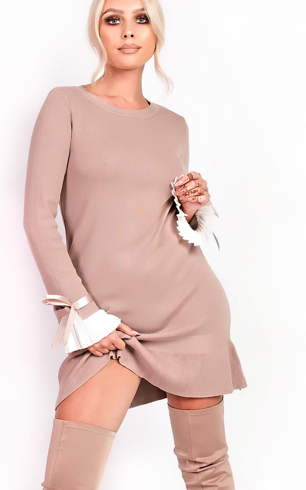 c0ccb2cc1e IKRUSH-Womens-Cecelia-Pleated-Sleeves-Longline-Jumper-Dress thumbnail