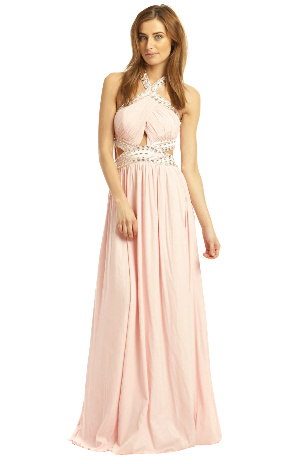 49fe0236a71 IKRUSH Women s Polly Evening Maxi Dress Size in Pink Size 16 ...
