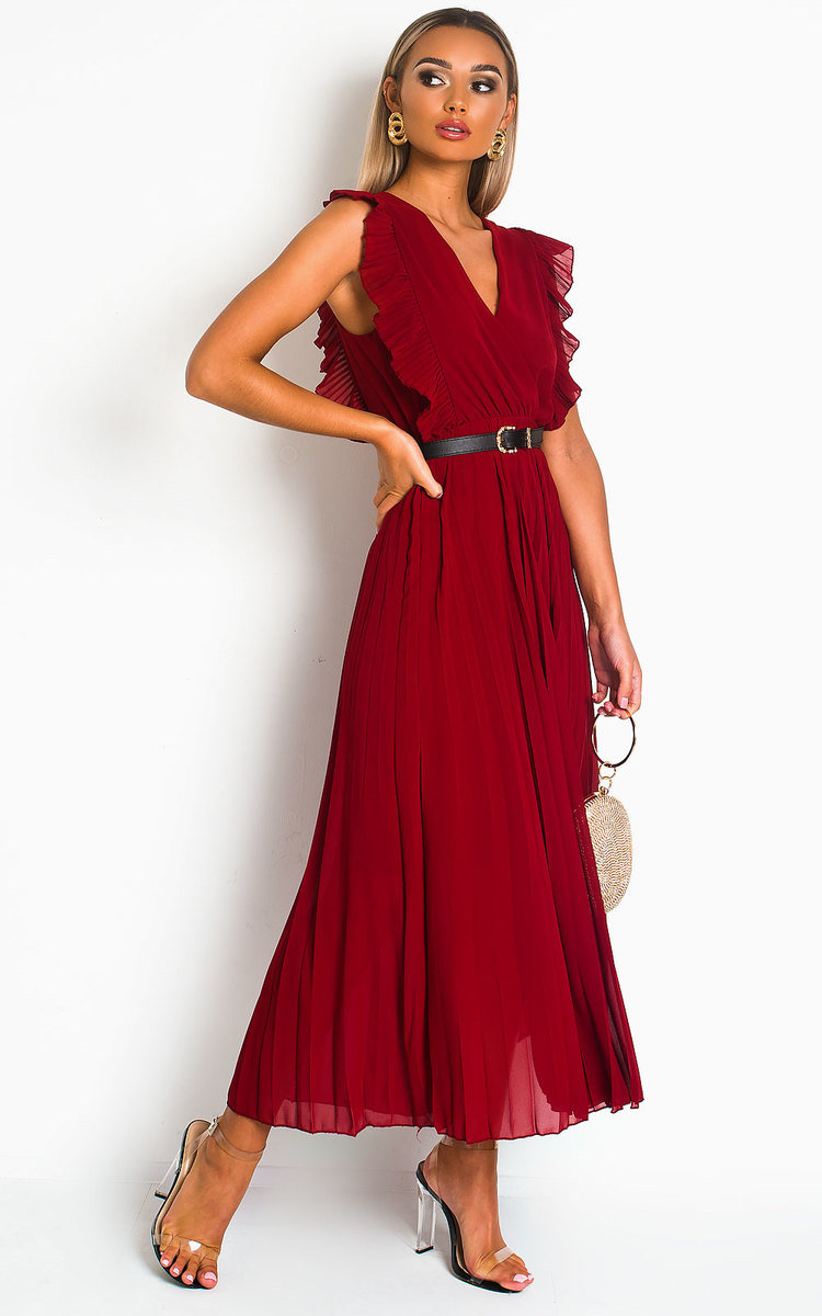 IKRUSH Womens Bryanna Pleated Maxi Dress