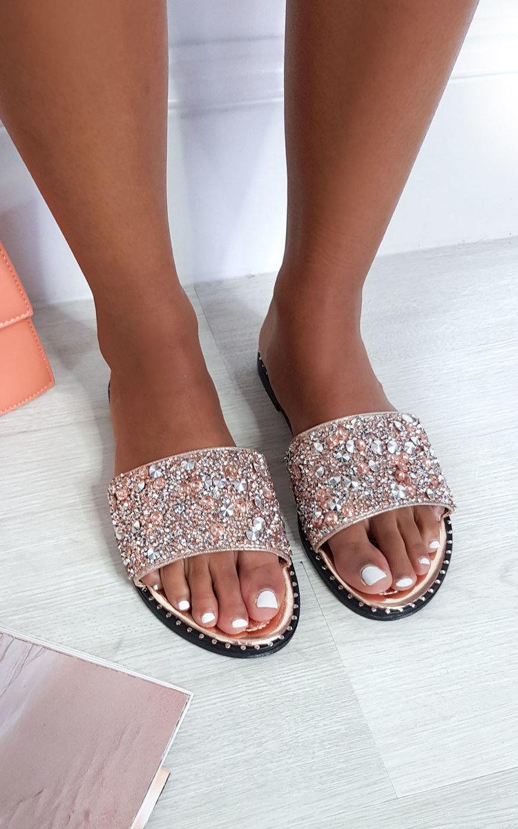 IKRUSH Womens Fifi Diamante Wedged Sandals