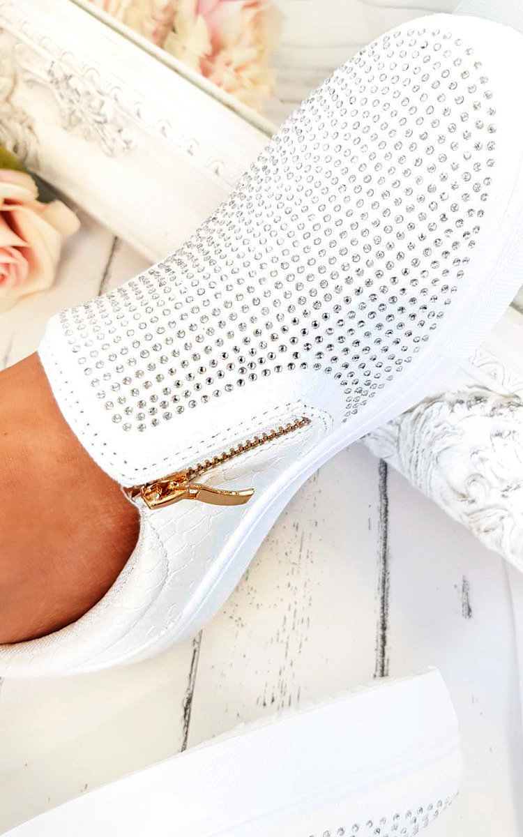 IKRUSH Womens Leah Slip On Embellished Trainers