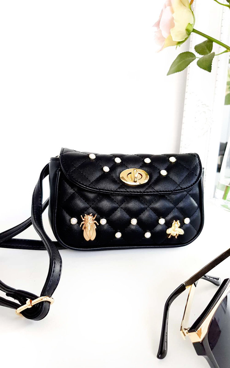 c1e9874decf6 IKRUSH Women s Nellie Bee Embellished Multiway Bag in BLACK Size 1SZE