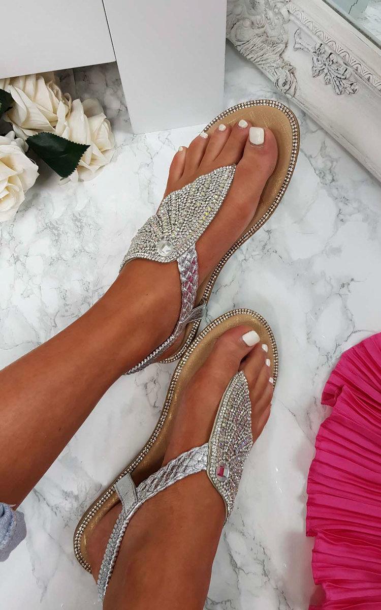 De Sandalias Mujer Willow Calzado Diamante Embellecido Para Ikrush htrsQd
