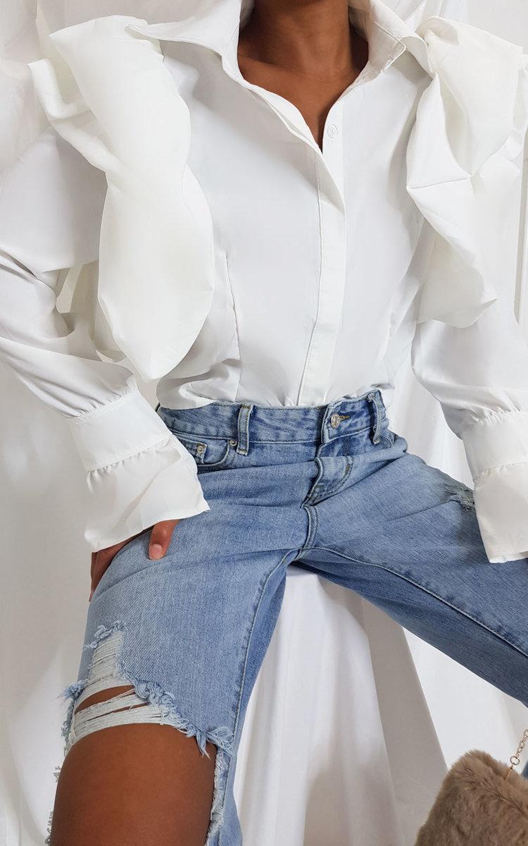 IKRUSH Womens Tallulah Puff Sleeve Blouse Top