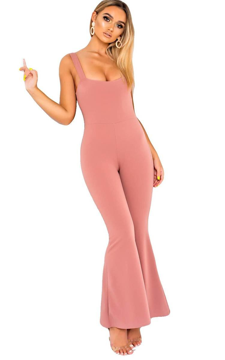935823923344 IKRUSH Women s Violet Wide Leg Jumpsuit Size in PINK Size 8