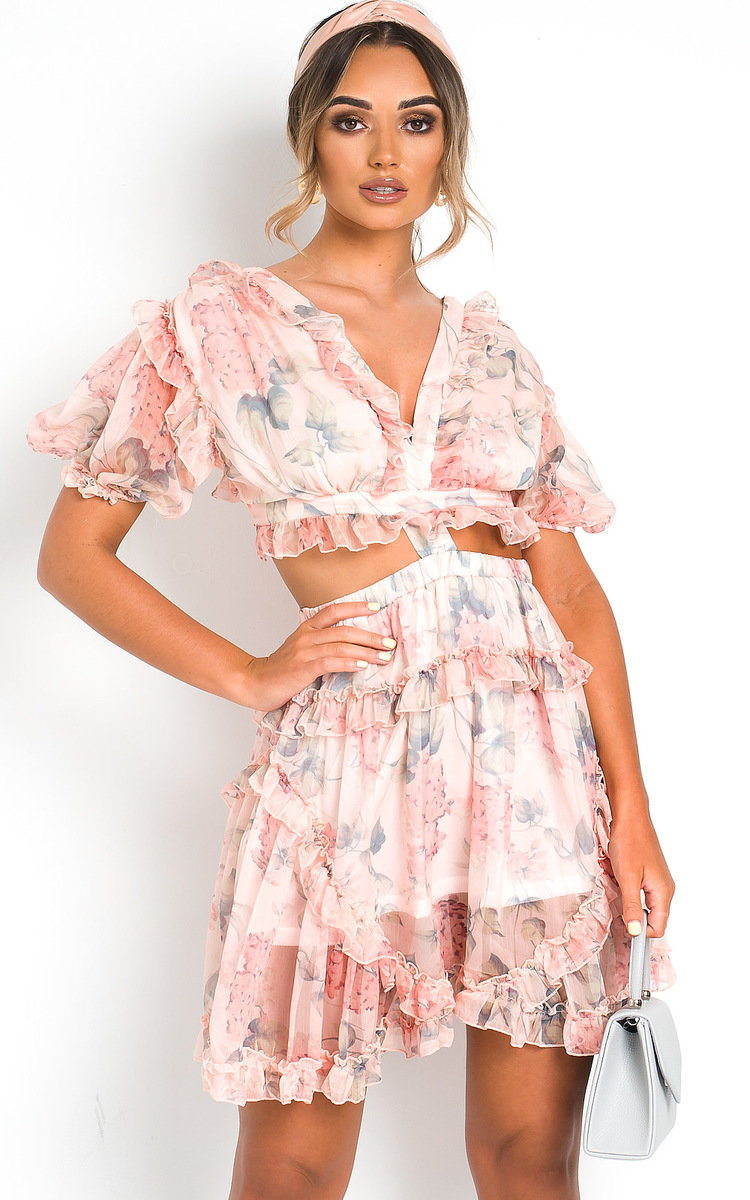 pink floral floaty summer dress